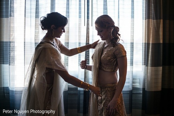Bridal Party Getting Ready in Atlanta, GA Indian Wedding by Peter Nguyen Photography