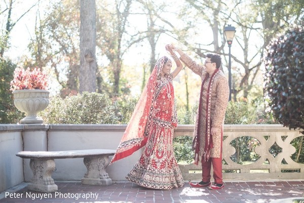First Look in Atlanta, GA Indian Wedding by Peter Nguyen Photography