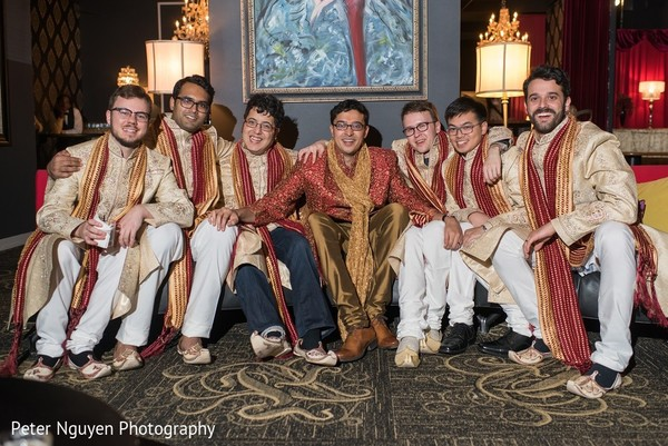 Groomsmen in Atlanta, GA Indian Wedding by Peter Nguyen Photography