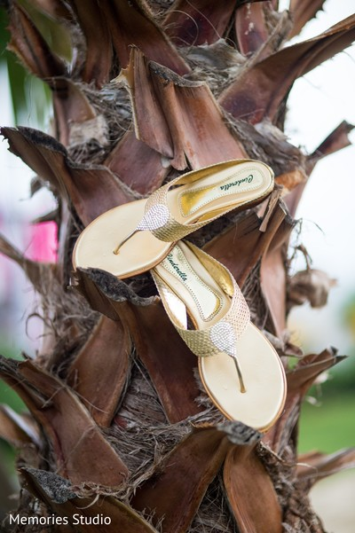 Bridal Sandals in Long Branch, NJ Indian Wedding by Memories Studio