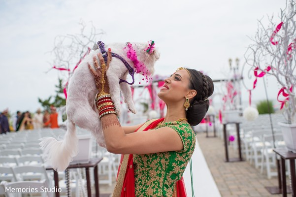 Bridal Party Portraits in Long Branch, NJ Indian Wedding by Memories Studio