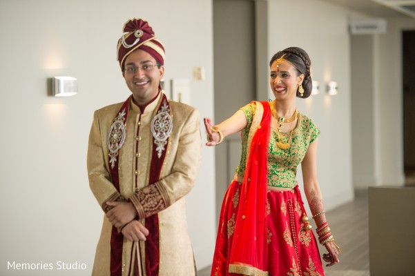 First Look Portraits in Long Branch, NJ Indian Wedding by Memories Studio