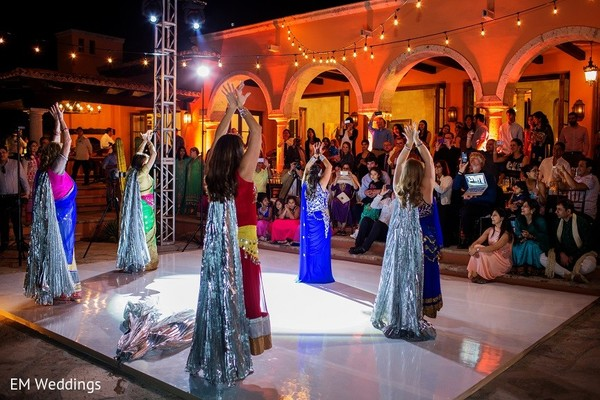 Sangeet in Los Cabos, Mexico Indian Fusion Destination Wedding by EM Weddings
