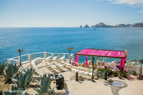 Venue in Los Cabos, Mexico Indian Fusion Destination Wedding by EM Weddings
