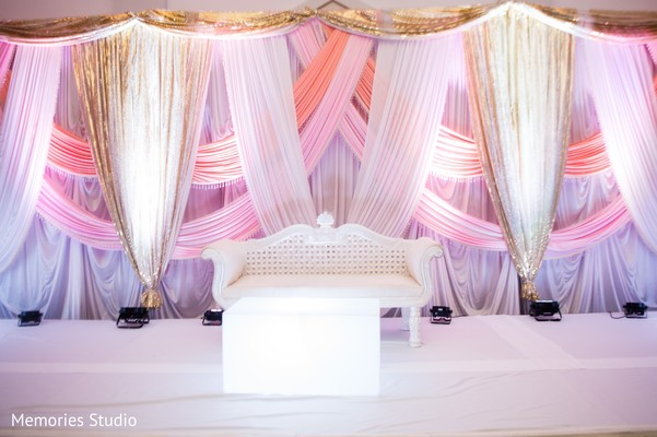 Sweetheart Stage in Long Branch, NJ Indian Wedding by Memories Studio
