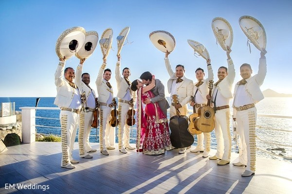 Wedding Portrait in Los Cabos, Mexico Indian Fusion Destination Wedding by EM Weddings