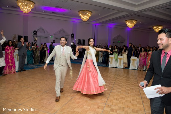 Reception in Long Branch, NJ Indian Wedding by Memories Studio