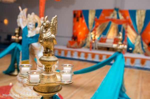 Sangeet Decor in Long Branch, NJ Indian Wedding by Memories Studio