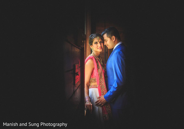 Reception Portraits in Hudson, NY Indian Wedding by Manish and Sung Photography