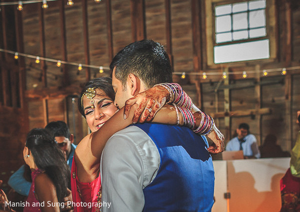 Reception in Hudson, NY Indian Wedding by Manish and Sung Photography