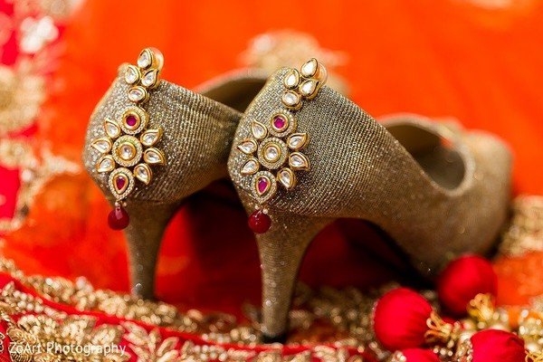 Bridal Jewelry in Glendale, CA Indian Wedding by ZoArt Photography