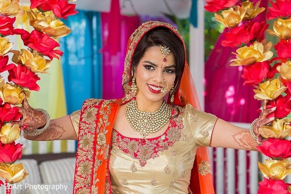 Bridal Portrait in Glendale, CA Indian Wedding by ZoArt Photography