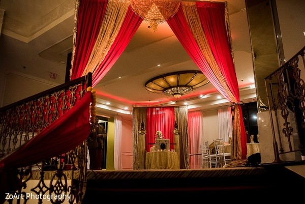 Ceremony Decor in Glendale, CA Indian Wedding by ZoArt Photography