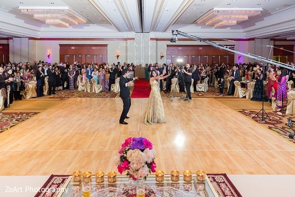 Reception in Glendale, CA Indian Wedding by ZoArt Photography