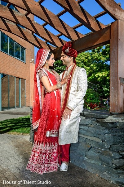 First Look in Melville, NY Indian Wedding by House of Talent Studio