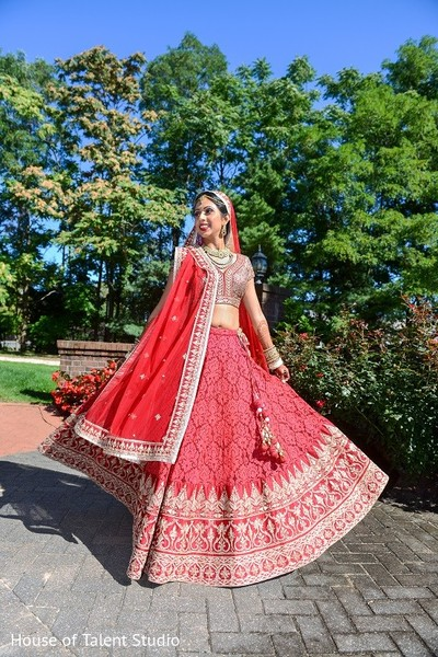 Bridal Fashion in Melville, NY Indian Wedding by House of Talent Studio