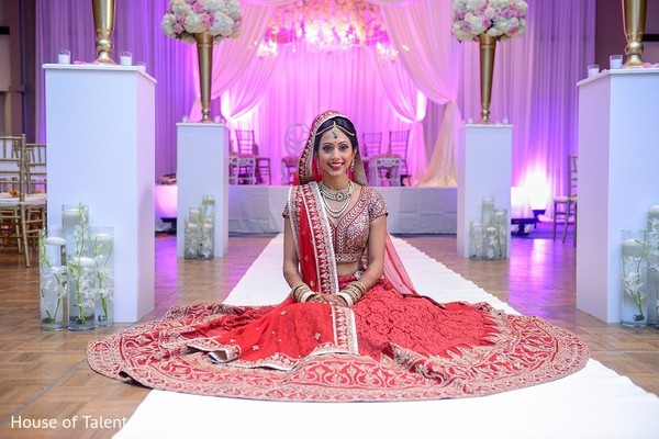 Bridal Portrait in Melville, NY Indian Wedding by House of Talent Studio