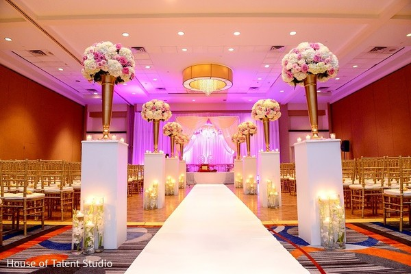 Ceremony Decor in Melville, NY Indian Wedding by House of Talent Studio