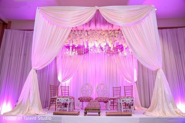 Mandap & Lighting in Melville, NY Indian Wedding by House of Talent Studio