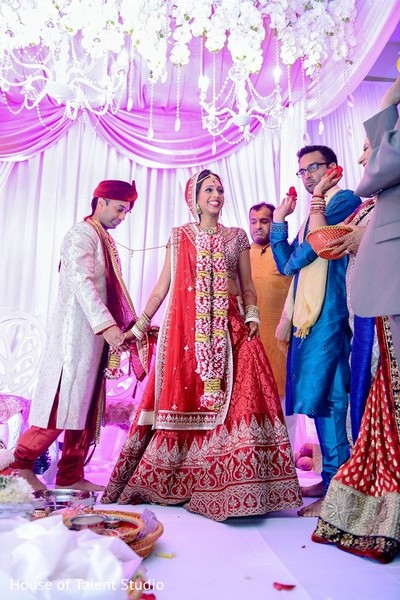 Ceremony in Melville, NY Indian Wedding by House of Talent Studio