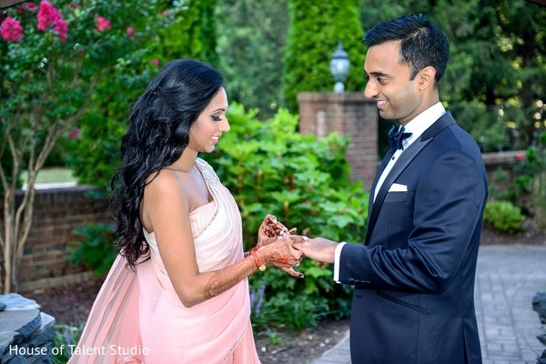 Reception Portrait in Melville, NY Indian Wedding by House of Talent Studio