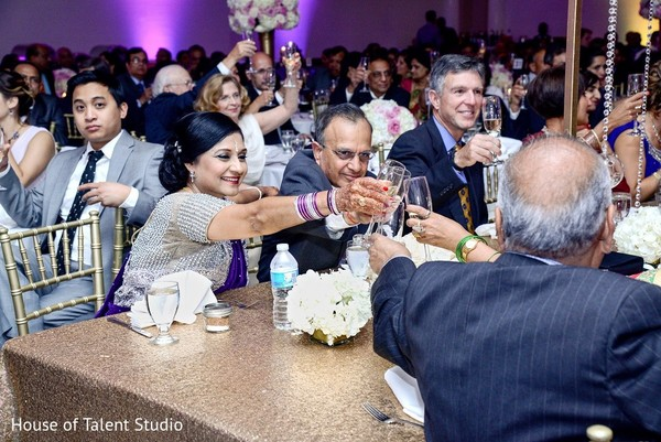 Reception in Melville, NY Indian Wedding by House of Talent Studio