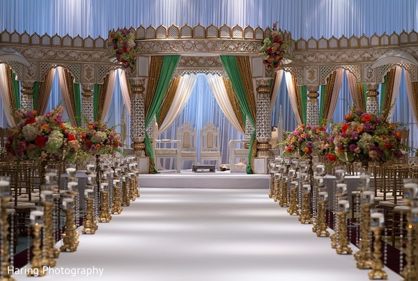 Ceremony Decor in Tampa, FL Indian Wedding by Haring Photography