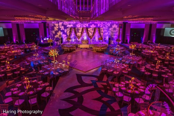 Venue & Lighting in Tampa, FL Indian Wedding by Haring Photography