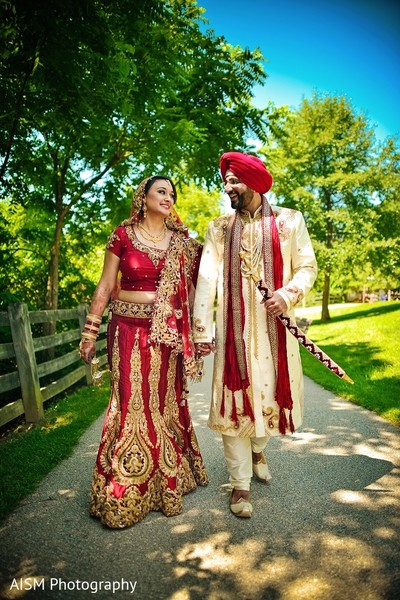 Wedding Portrait in Silver Spring, MD Sikh Wedding by AISM Photography