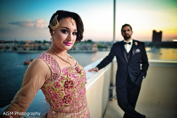 Reception Portrait in Silver Spring, MD Sikh Wedding by AISM Photography