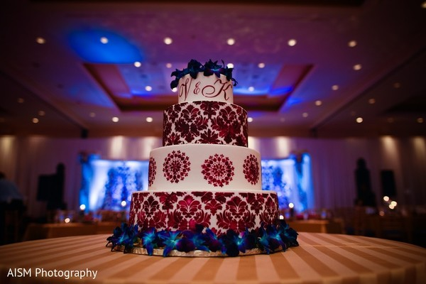 Wedding Cake in Silver Spring, MD Sikh Wedding by AISM Photography
