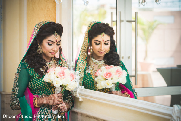 Bridal Portrait in Queens, NY South Asian Wedding by Dhoom Studio Photo & Video