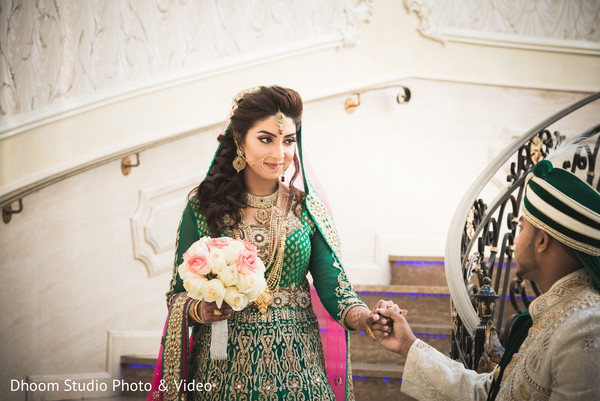 First Look in Queens, NY South Asian Wedding by Dhoom Studio Photo & Video