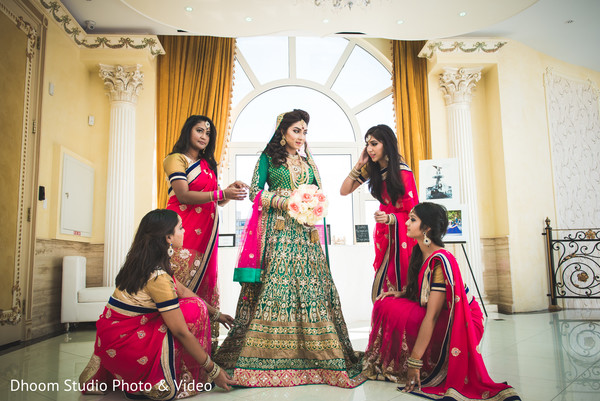 Bridal Party in Queens, NY South Asian Wedding by Dhoom Studio Photo & Video