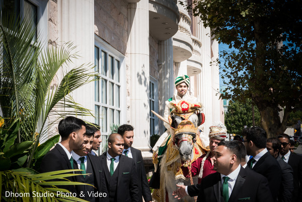 Baraat in Queens, NY South Asian Wedding by Dhoom Studio Photo & Video