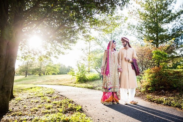 First Look in Uniondale, NY Pakistani Wedding by Sachi Anand Photography