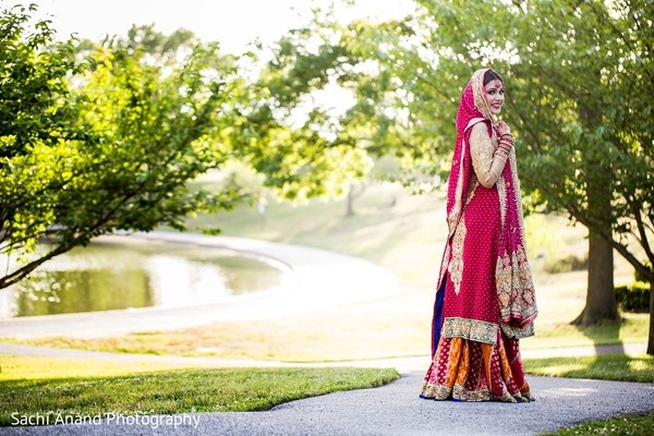 Bridal Portrait in Uniondale, NY Pakistani Wedding by Sachi Anand Photography