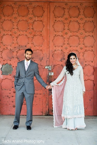 Valima Portrait in Uniondale, NY Pakistani Wedding by Sachi Anand Photography