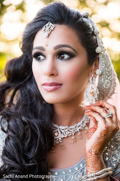 Hair & Makeup in Uniondale, NY Pakistani Wedding by Sachi Anand Photography