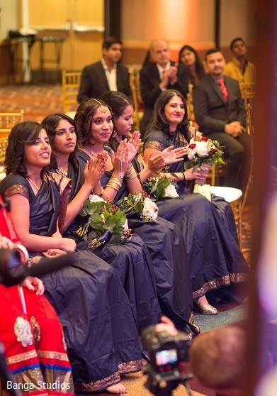 Bridal Party in New Brunswick, NJ Indian Fusion Wedding by Banga Studios