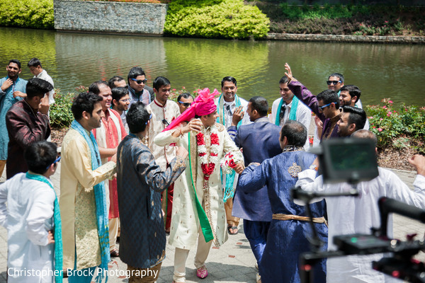 Baraat in Atlanta, GA Indian Wedding by Christopher Brock Photography