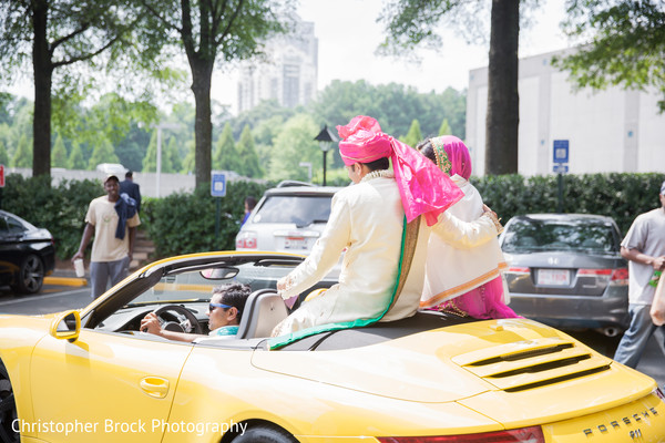 Bride and Groom in Atlanta, GA Indian Wedding by Christopher Brock Photography