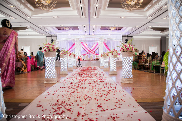 Ceremony Decor in Atlanta, GA Indian Wedding by Christopher Brock Photography