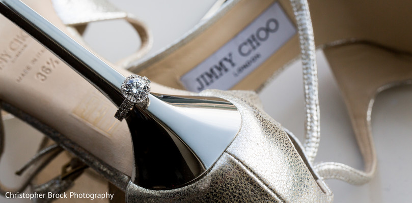 Bridal Shoes in Atlanta, GA Indian Wedding by Christopher Brock Photography