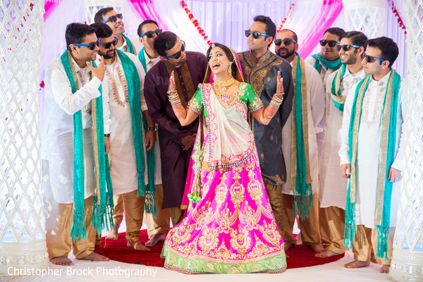 Bridal Party Portraits in Atlanta, GA Indian Wedding by Christopher Brock Photography