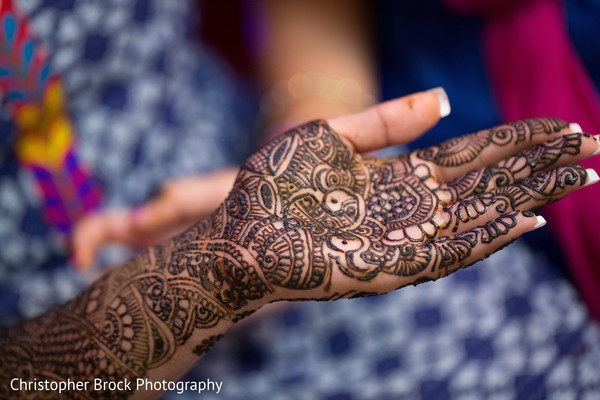 Mehndi hands in Atlanta, GA Indian Wedding by Christopher Brock Photography
