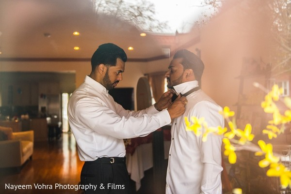 Groom Getting Ready in Jersey City, NJ Indian Fusion Wedding by Nayeem Vohra Photography & Films
