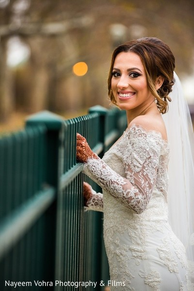 Bridal Portrait in Jersey City, NJ Indian Fusion Wedding by Nayeem Vohra Photography & Films