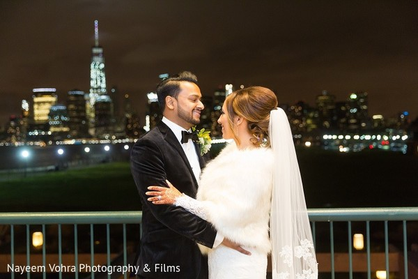 Reception Portrait in Jersey City, NJ Indian Fusion Wedding by Nayeem Vohra Photography & Films