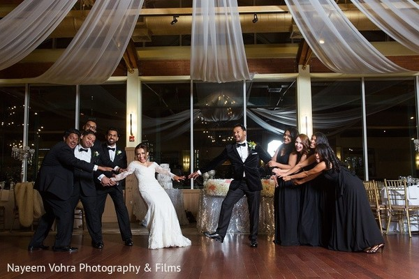 Wedding Party in Jersey City, NJ Indian Fusion Wedding by Nayeem Vohra Photography & Films